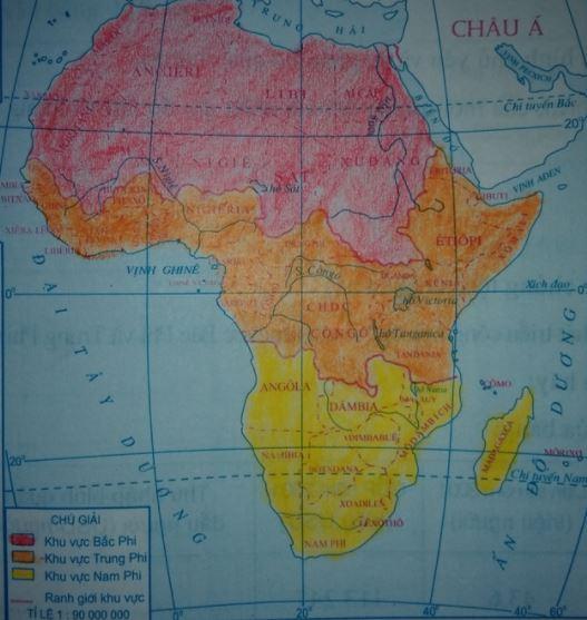 Lược đồ các khu vực châu Phi