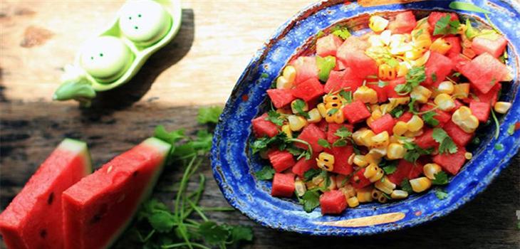 Thành phẩm salad dưa hấu bắp