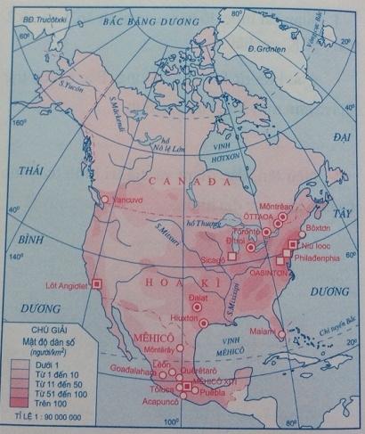 Lược đồ dân cư Bắc Mĩ