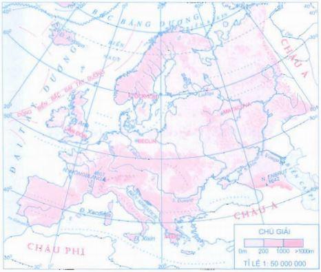 Lược đồ địa hình châu Âu