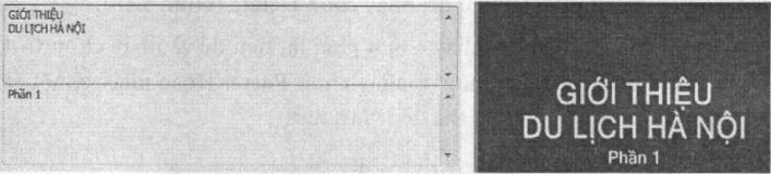 Tiêu đê được thiết lập hiệu ứng trong nhóm Titles, Two lines