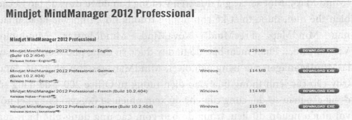 Giao diện website tải tệp chương trình cài đặt MittdManager 2012
