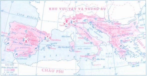 Lược đồ khu vực Nam Âu