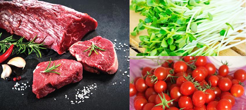 Nguyên liệu làm gỏi bò rau mầm