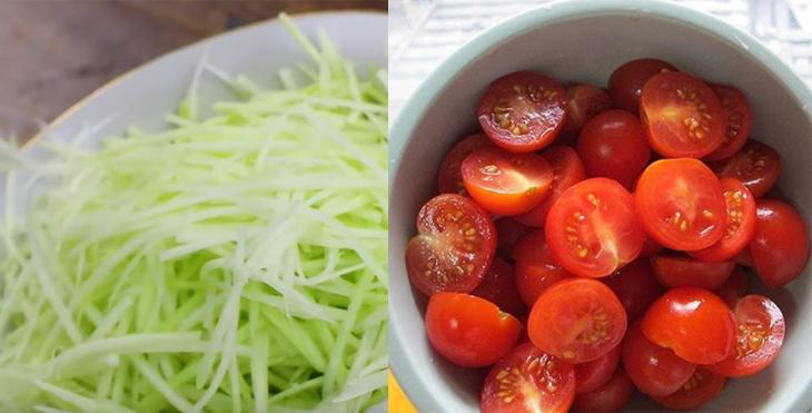 Sơ chế cà chua, đu đủ