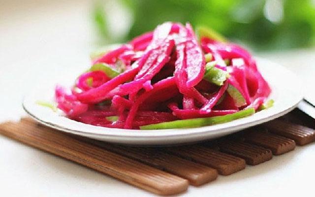Thành phẩm món salad thanh long