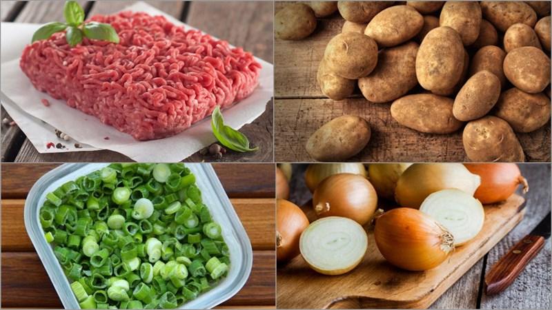 Nguyên liệu làm Chả bò khoai tây