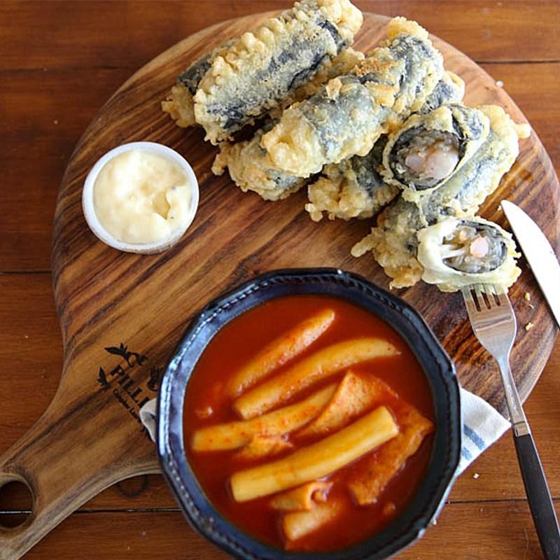 Miến cuộn rong biển trứng xúc xích