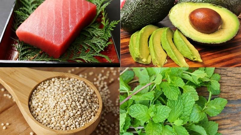 Nguyên liệu làm Gỏi cuốn cá ngừ hạt quinoa