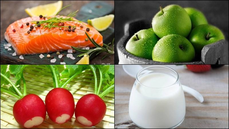 Nguyên liệu làm Salad cá hồi sốt sữa chua