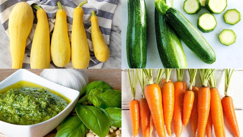 Nguyên liệu làm Salad pesto rau củ