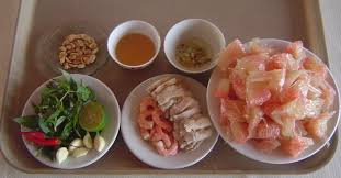 Các nguyên liệu chính để chế biến gỏi bưởi tôm thịt