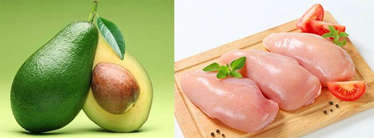 Nguyên liệu làm Salad bơ ức gà