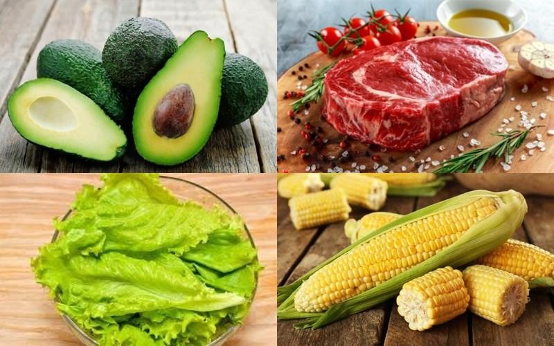 Nguyên liệu làm Salad bơ thịt bò
