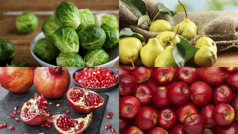Nguyên liệu làm Salad bắp cải tí hon trái cây