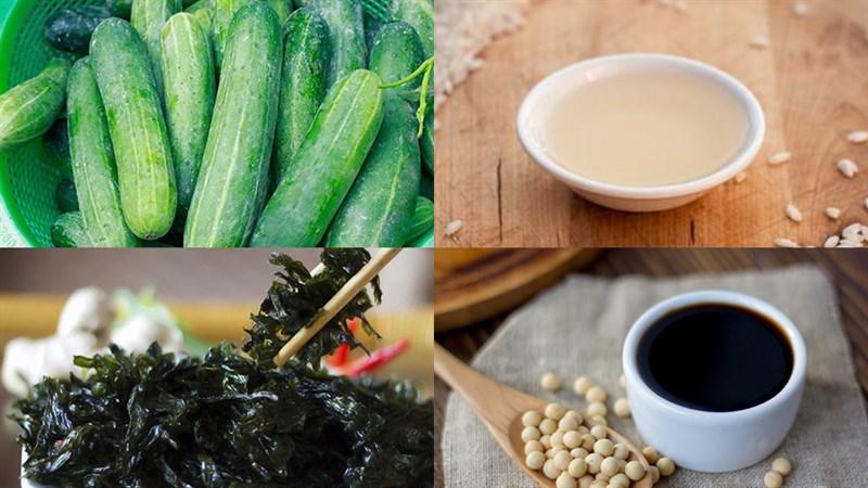 Nguyên liệu làm Salad dưa leo sốt Nhật