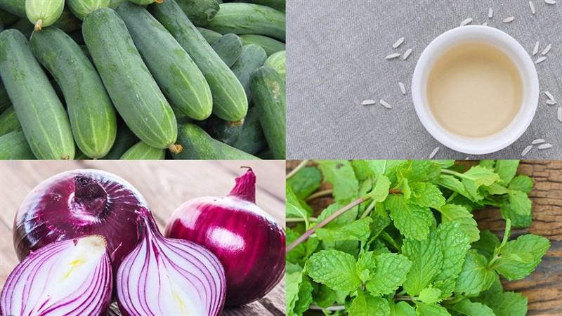 Nguyên liệu làm Salad dưa leo sốt giấm