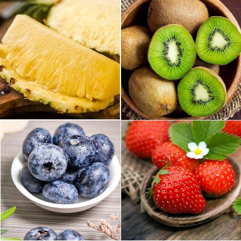 Nguyên liệu làm Salad hoa quả họ Berry sốt chanh