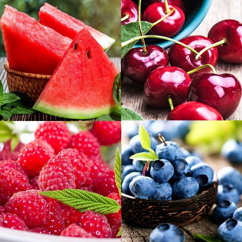 Nguyên liệu làm Salad hoa quả họ berry dưa hấu
