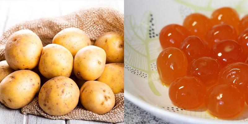 Nguyên liệu làm Snack khoai tây trứng muối