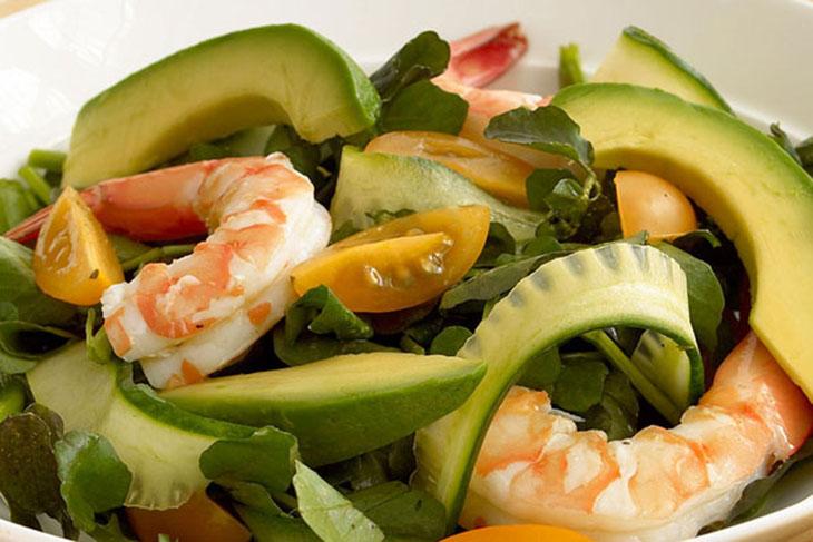 Salad bơ hải sản
